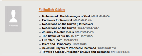 List of Gulen's books published bu Tughra Books