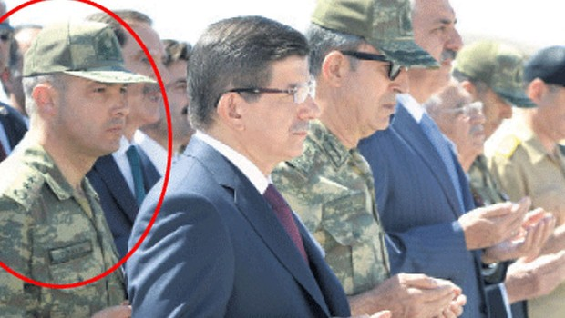 Levent Turkkan (circled) the aide-de-camp to Chief of General Staff admitted loyalty to Gulen