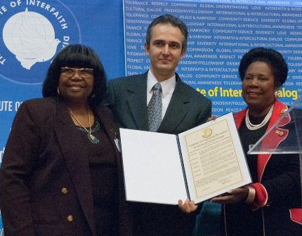 Sheila Lee Jackson (right) attending an event of the Gulenist Institute of Interfaith Dialogue (IID) on 24 November 2009